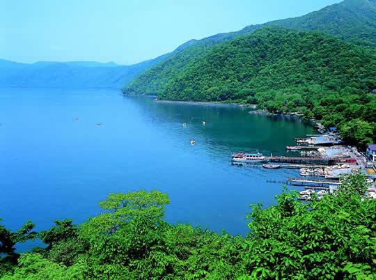 支笏湖畔の温泉の写真