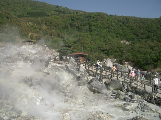 雲仙温泉の写真