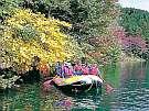 美しい水と爽やかな空気と綺麗な景色が楽しめる青木湖でラフトピクニック夏シーズンにありますよ。