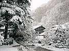真っ白な雪に包まれた本館