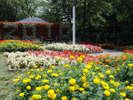 宮沢賢治設計の日時計花壇は、年に2回、草花を植え替えしています。