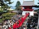 【赤間神宮】安徳天皇を偲ぶ先帝祭。上臈参拝は、下関市中を歩きます(車で5分)
