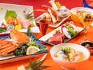 近江牛ステーキ、ゆでズワイ蟹、寒鰆の出汁鍋。冬のグルメ会席
