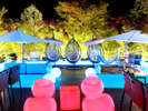 【水盤テラス】夜は幻想的な雰囲気がたまらない♪大切な方とのひと時を・・・
