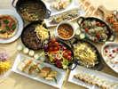 野菜も豊富な体が喜ぶメニューが満載のステーキ&デザート ランチビュッフェ。
