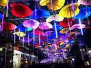 ハートの傘がキュートな『ハートのアンブレラストリート』