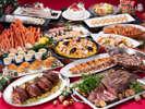 煌びやかなお料理が揃うクリスマスディナービュッフェ