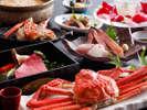 【冬の味覚】彩月流かに懐石-茹、焼、刺、雑炊、そして備長炭で焼き上げる神戸ビーフ/但馬牛も。
