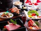 これぞ♪彩月スタンダード。スペシャリテは、紀州備長炭神戸ビーフ/但馬牛or日本海の魚介より、チョイス。