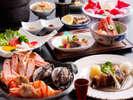 活鮑と希少な鬼海老の海鮮焼き+神戸ビーフのテールカリカリ焼き