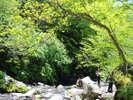 川俣川は人気の撮影スポットです。