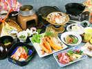 但馬牛+紅がに+松茸の贅沢な『欲張りプラン』(写真はイメージです)
