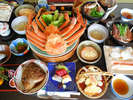 【かに料理(一例)】石道がご提供する冬のカニ♪美味しくてボリュームたっぷり!