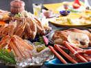 冬の人気No.1★カニ料理の【満腹かにフルコース】の例(一部2人前)