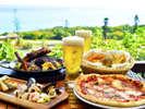 【カフェ&ピッツァ スターダストガーデン(リゾート内)】島の食材も楽しめる一軒家レストラン。