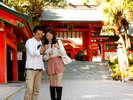 【青島神社】ホテルから徒歩で約15分♪