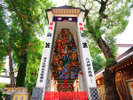 7月:博多祇園山笠は7月1日から博多部を中心に合計14の飾り山が公開されます。