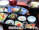 朝食一例…和食ならではの繊細なお膳です(イメージ)。