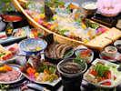 【夕食一例/極み~グレードアッププラン29年度秋冬】伊勢えび、あわび、車海老!天草の海鮮を贅沢に堪能!