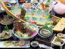 【夕食一例/極み~グレードアッププラン30年度秋冬】伊勢えび、あわび、車海老!天草の海鮮を贅沢に堪能!