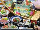 【夕食一例/お手軽プラン30年度秋冬】天草ならでは!鮮度抜群の海鮮をリーズナブルにお楽しみ頂けます♪