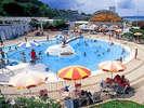円形、流水、子供用、ウォータースライダーを備えた和倉温泉シーサイドパーク!