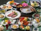 【夕食】夏のグレードアップコースでは、質の高い食材をふんだんに使用しております/例