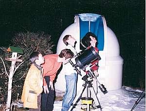 大口径の望遠鏡で本格的な天体観測が出来る