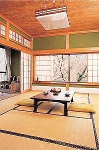 眺めの良い客室。お庭も散歩できます