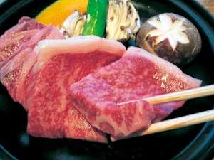 島根和牛の陶板焼き