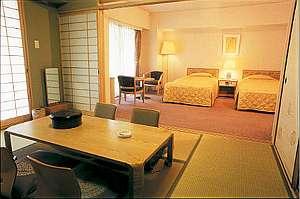 ツイン+6畳和室がついた「和洋室」ご家族でのご宿泊やゆったりご宿泊したい方におススメ!