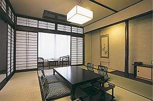 客室例。全部和室だが広さがそれぞれ異なる