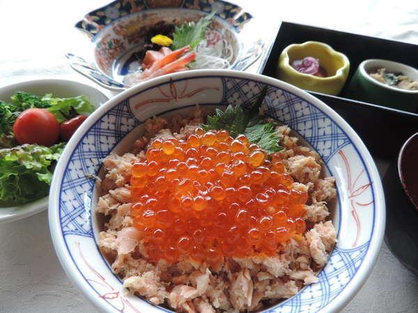★夕食★鮭いくら丼定食!【新鮮な海の幸を丼とお造りでお楽しみいただけます】