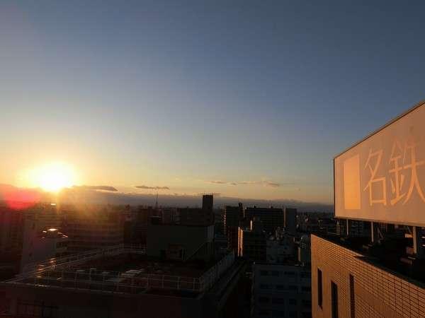 屋上から見た夕焼け。