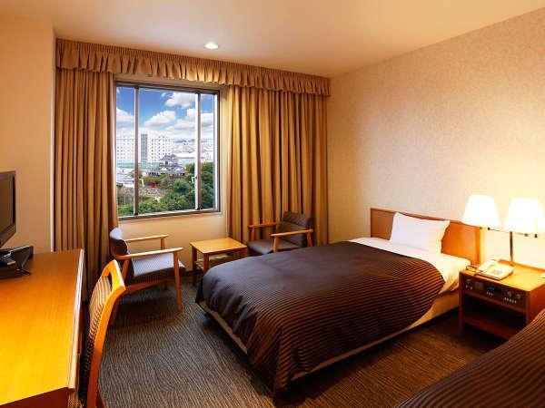 【キャッスルビューツイン】浜松城側高層階のお部屋 ※お部屋により見える角度大きさなど異なります。
