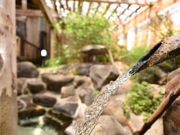 *露天風呂/非常に鮮度の高い、やわらかな泉質の湯量豊富な温泉です。