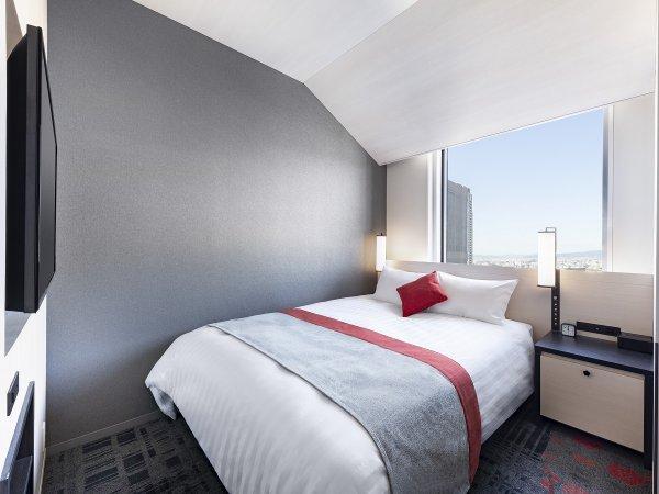 ダブル ●広さ:19平米 ●ベッド:幅160cm × 長さ196cm 1台