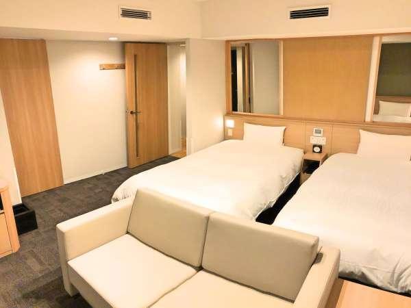 ■禁煙フォースルーム広さ26平米 ベッドサイズ幅120×丈195(2台)