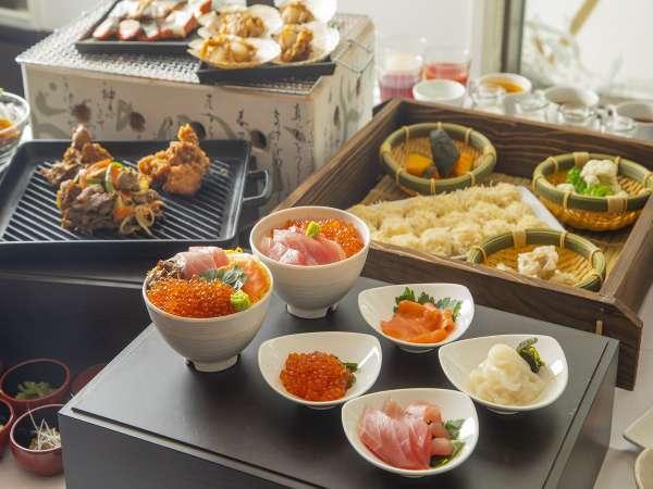 ■朝食は和洋食バイキング。約100種類の豊富な品揃え♪