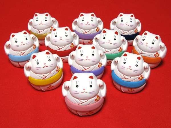 全11種類のかわいい招き猫小物入れ♪記念日のプランでご宿泊者の方全員にプレゼント!