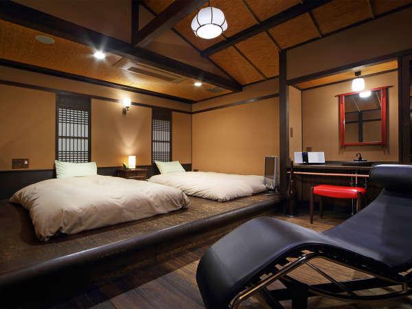 【花タイプ/2階寝室】全室2階にある寝室ですが、1階にお布団を敷くこともできます。