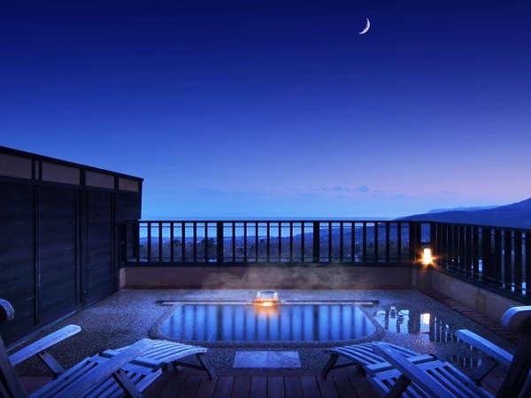 【花タイプ 露天風呂】 黄昏時の幻想的な夜空に抱かれて