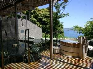 小網代湾を望む露天風呂