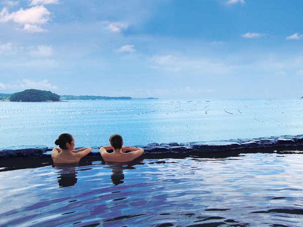 【南三陸ホテル観洋】海とお風呂がひとつに繋がる「インフィニティ温泉」はまさに絶景