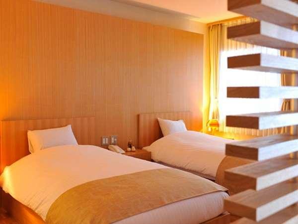 【北欧風洋室「みすず」】ベッドはシモンズの幅120cm・長さ195cmサイズ。ゆったりとした眠りを