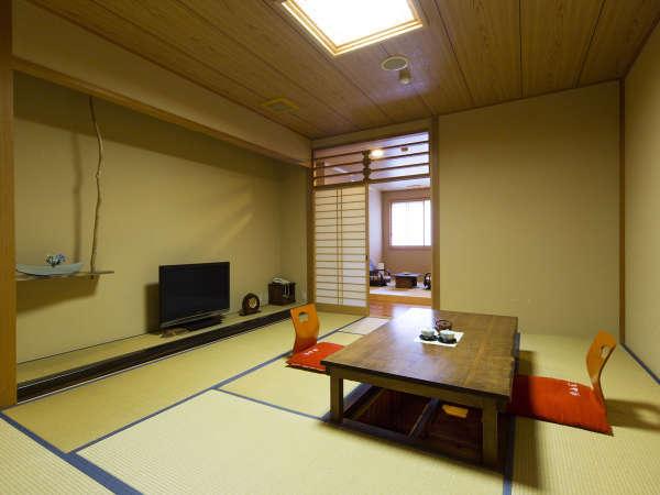 ★【禁煙】◆10畳間+3畳間+内湯◆ 〈部屋食可〉【客室一例/2Fつばき】和の造りの落ち着きのあるお部屋。