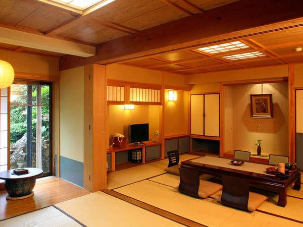 【和室一例・ゆったり和室】ゆっくりお寛ぎいただける民芸調の和室。