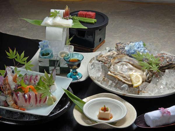 【夕食一例・岩牡蠣付会席】