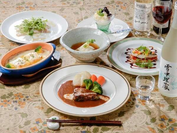 お箸で食べる洋食フルコース【夕食一例】