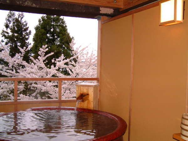 *春には貸切露天風呂より桜の景色がご覧いただけます!